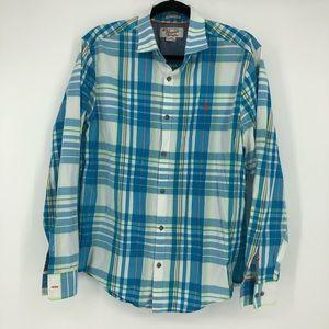 Penguin Munsingwear Heritage Slim Fit Blue Plaid